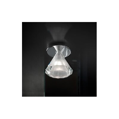 Karat 1-Light Flush Mount Finish: Transparent