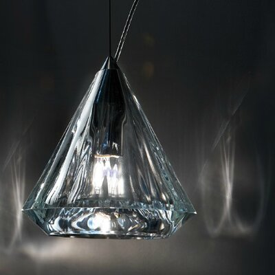 Karat 1-Light Mini Pendant Finish: Transparent