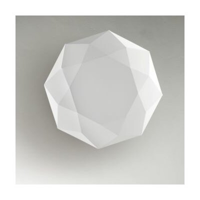 Diamond 3-Light Flush Mount Size: 8.5 H x 47.2 W x 47.2 D