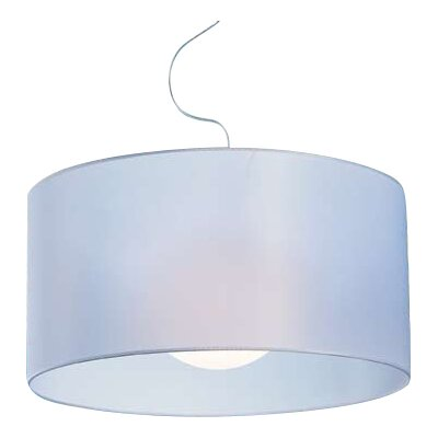 Fog 1-Light Drum Pendant Shade Color: White, Size: 13.8 H x 27.6 W x 27.6 D