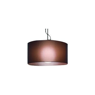 Fog 1-Light Drum Pendant Shade Color: Black, Size: 13.8 H x 27.6 W x 27.6 D