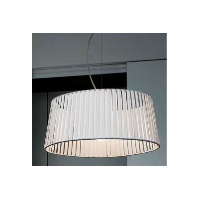 Ribbon 1-Light Drum Pendant Finish: Satin Nickel, Shade Color: Black