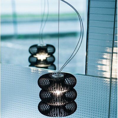 Spring 1-Light Mini Pendant Diffuser Color: Transparent, Shade Color: Polished White
