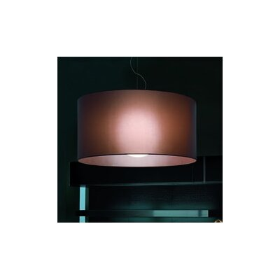 Fog 1-Light Drum Pendant Shade Color: Mocha, Size: 19.7 H x 39.4 W x 39.4 D