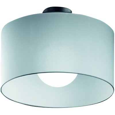 Fog 1-Light Semi-Flush Mount Shade Color: Black