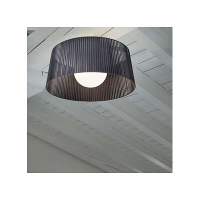 Ribbon 1-Light Semi-Flush Mount Finish: Satin Nickel, Shade Color: Mocha