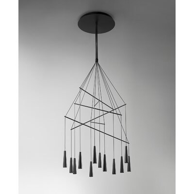Mikado 12-Light Geometric Pendant