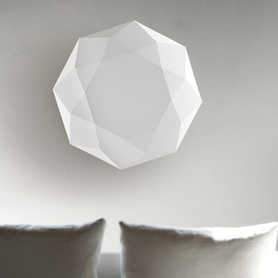 Diamond 3-Light Flush Mount Size: 7.7 H x 31.5 W x 31.5 D