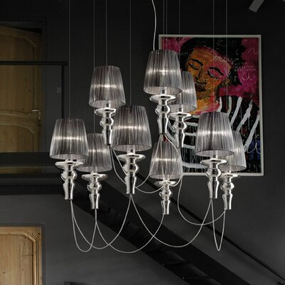 Gadora Chic 9-Light Candle-Style Chandelier Finish: Chrome-Grey