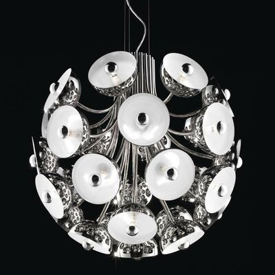 Inverted Pendant Finish: Polished Chrome with White Diffuser