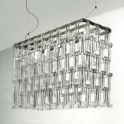 Tessuti 12-Light Kitchen Island Pendant Shade Color: Polished White