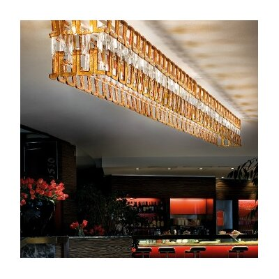 Tessuti 4-Light Kitchen Island Pendant Shade Color: Transparent Crystal