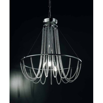 Fall 3-Light Crystal Chandelier Crystal Color: Black Pearl