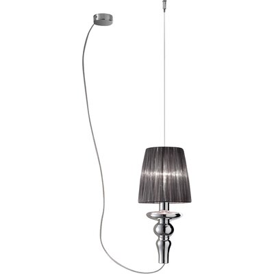 Gadora Chic 1-Light Pendant Finish: Chrome-Grey