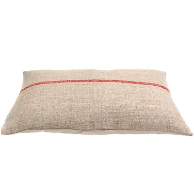 Stripe Vintage Grain Sack Organic Lumbar Pillow