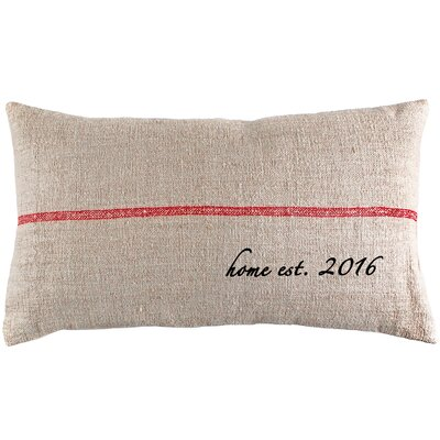 Home Established Year French Grain Sack Pillow