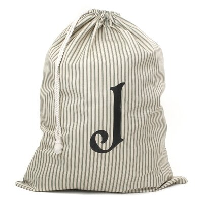 Monogrammed Laundry Bag Color: Green