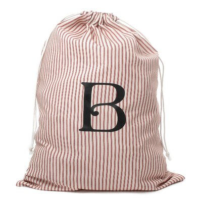 Monogrammed Laundry Bag Color: Red