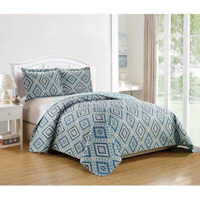Esbjerg Contemporary Fashion Printed Reversible Quilt Set Size: Twin