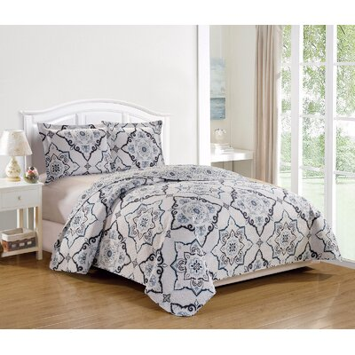 Esbjerg Fashion Printed Lightweight Reversible Quilt Set Size: Full/Queen