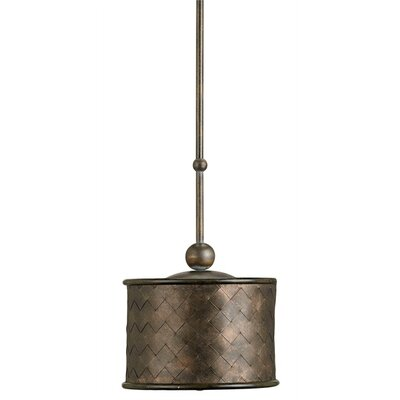 Veneta 1 Light Drum Pendant