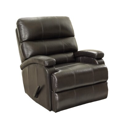 Detrick Leather Manual Rocker Recliner Reclining Type: Manual Recline