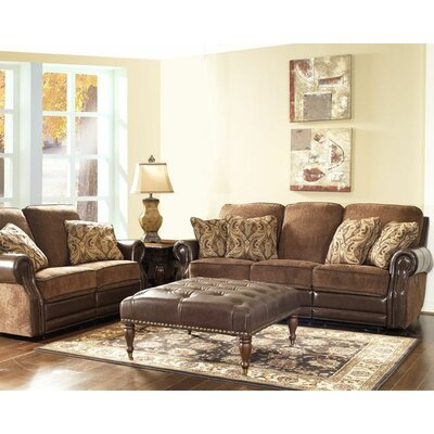 Jefferson Vintage 64 W Power Leather Reclining Loveseat