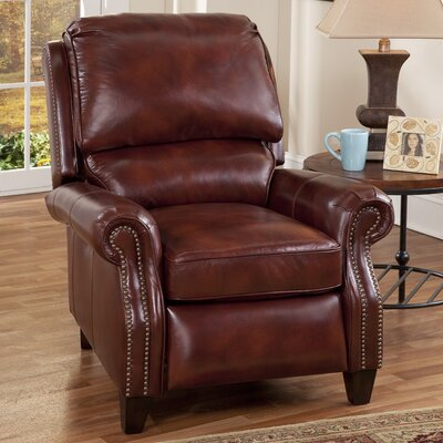 Churchill II Recliner Type: Manual, Upholstery: Art Burl