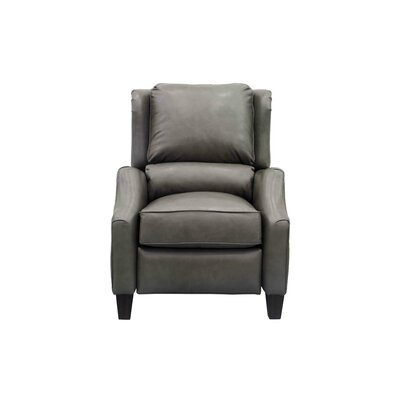 Berkeley Leather Recliner Upholstery: Light Gray