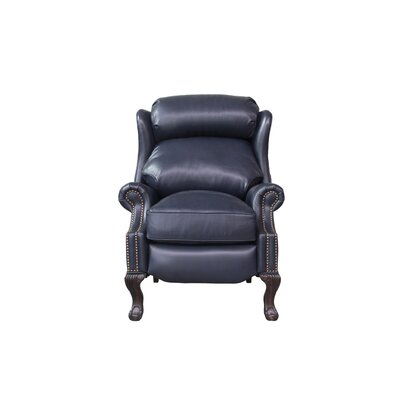 Danbury Leather Recliner Upholstery: Rustic Navy Blue