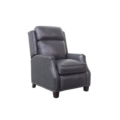 Van Buren Leather Recliner Upholstery: Dark Gray