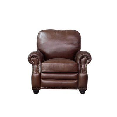 Longhorn Leather Recliner Upholstery: Brown
