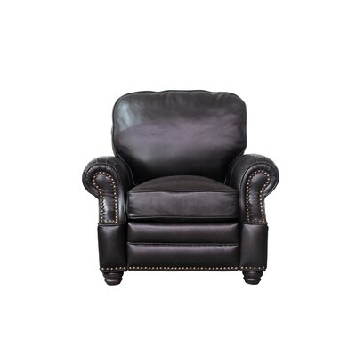 Longhorn Leather Recliner Upholstery: Dark Brown