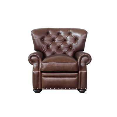 Sinclair Leather Manual Recliner Upholstery: Brown