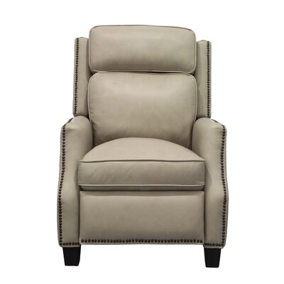 Van Buren Leather Manual Recliner Upholstery: Cream