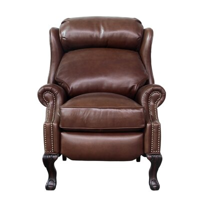Danbury Leather Manual No Motion Recliner Upholstery: Medium Brown