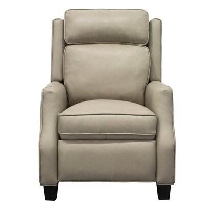 Nixon Leather Manual Recliner Upholstery: Cream