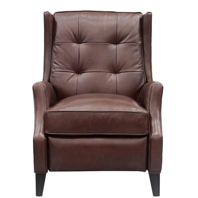 Lincoln Leather Manual Recliner Upholstery: Medium Brown
