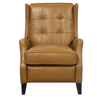 Lincoln Leather Recliner Upholstery: Camel