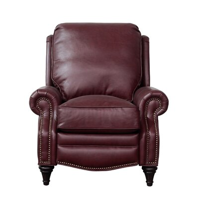 Midbury Leather Recliner Upholstery: Shoreham Wine