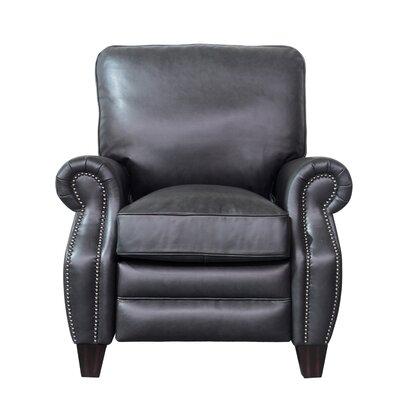 Briarwood Leather Recliner Upholstery: Shoreham Gray