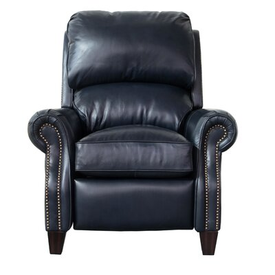 Churchill Leather Recliner Upholstery: Shoreham Blue