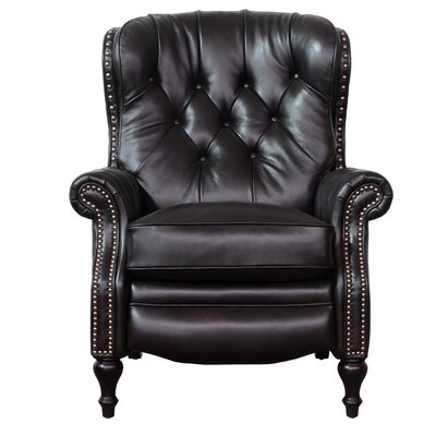 Kendall Leather Recliner Upholstery: Shoreham Fudge