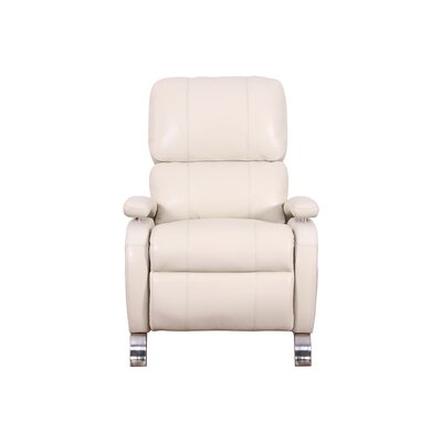Oracle Leather Recliner Upholstery: White