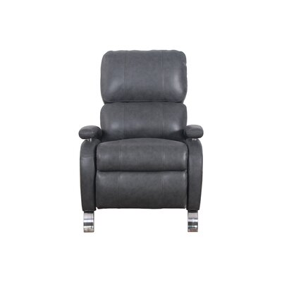 Oracle Leather Recliner Upholstery: Gray