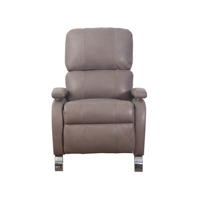 Oracle Leather Recliner Upholstery: Brown