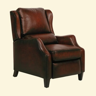 Berkley ll Wing Leather Recliner Color: Stetson Bordeaux