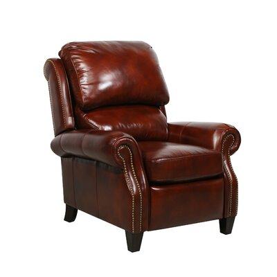 Churchill ll Leather Recliner Color: Art Burl
