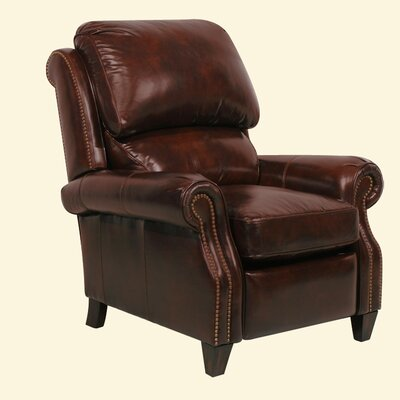 Churchill ll Leather Recliner Color: Double Fudge