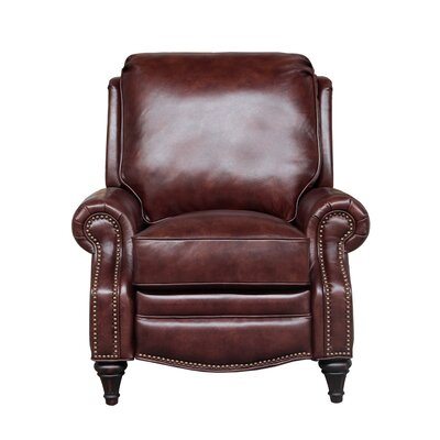Avery Leather Manual Recliner Upholstery: Wenlock Fudge